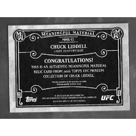 CHUCK LIDDELL 2016 Topps UFC Museum Collection Meaningful Material swatch /35