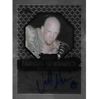 JEFF MONSON 2011 Leaf UFC MMA Metal Famous Nicknames Signature auto FMJM1