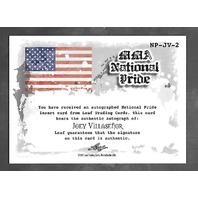 JOEY VILLASENOR 2011 Leaf UFC MMA Metal National Pride Signature auto #NP-JV-2