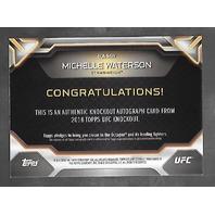 MICHELLE WATERSON 2016 Topps UFC Authentic Knockout auto /249 blue Autograph