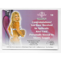 Sherry Goggin 2012  Benchwarmer Vault Authentic Kiss Card #18