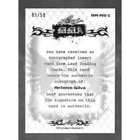 ANTONIO SILVA 2011 Leaf MMA Metal UFC Authentic Signature Refractor auto /50