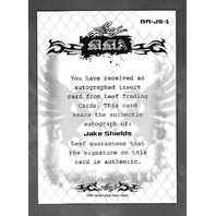 JAKE SHIELDS 2011 Leaf MMA Metal UFC Authentic Signature auto #GA_JS_1
