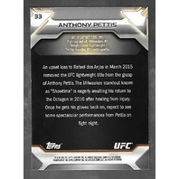 "ANTHONY ""SHOWTIME"" PETTIS 2016 Topps UFC Knockout Red /8 Card #33"