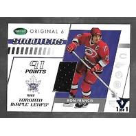 Ron Francis 2002-03 Vault Parkhurst Original 6 Shooters patch card 1/1