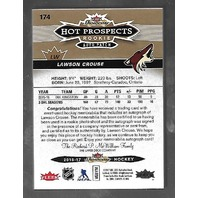 Lawson Crouse 2016-17 Fleer Showcase Hot Prospects RC auto patch /135 3 color