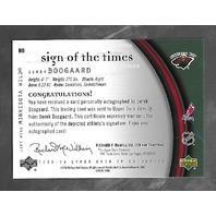 Derek Boogaard 2005-06 SP Authentic Hockey Sign Times Autograph Auto  #B0
