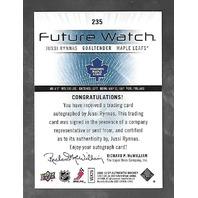Ryan Callahan 2007-08 SP Authentic Hockey Future Watch RC Autograph Auto /999