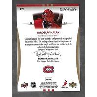 Jaroslav Halak 2007-08 SP Authentic Hockey Future Watch RC Autograph Auto /999