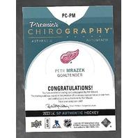 Peter Mrazek 2013-14 SP Authentic Hockey Premier Chirography Autograph Auto /75