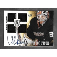 Viktor Fasth 2013-14 Panini Prime Hockey Autograph Auto patch /199