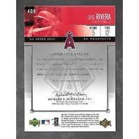 LUIS RIVERA 2004 Upper Deck SP Prospects Platinum auto 1/1 Autograph