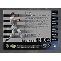 CAL RIPKEN JR 2002 Upper Deck Piece of History Tape Measure Heroes patch #TM-CR