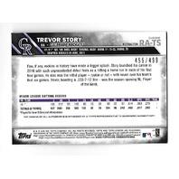 TREVOR STORY 2016 Topps Chrome RC Autograph Refractor /499