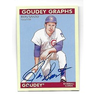 RON SANTO 2009 Upper Deck Goudey Graphs Autograph #GG-RS Chicago Cubs