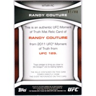 RANDY COUTURE 2011 Topps UFC Moment of Truth Fight Mat Relics Black Card 81/88