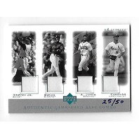 GRIFFEY JR/BONDS/A.JONES/EDMONDS 2001 Upper Deck Reserve Game Used Base Combo/50