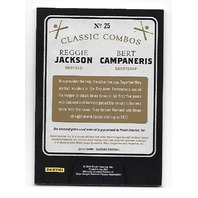 REGGIE JACKSON/BERT CAMPANERIS 2014 Panini Classics Classic Combo patch #25