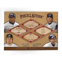 RODRIUEZ/GLAUS/GIAMBI/MARTINEZ 2001 Upper Deck Piece Action used bat piece #RGGM