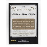 STARGELL/MAZEROSKI/CLEMENTE 2014 Panini Classics Classic Triples bat piece /99