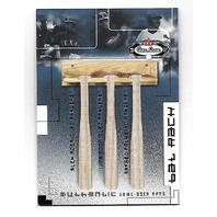 A.RODRIGUEZ/I.RODRIGUEZ/PALMEIRO 2002 Box Score MLB Bat Rack game used /300