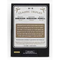 F.ROBINSON/B.ROBINSON/POWELL 2014 Panini Classics Classic Triples bat piece /99