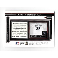 JEREMY BONDERMAN 2003 Playoff Piece Game Worn jersey patch auto #POG-85