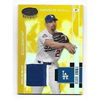 KEVIN BROWN 2003 Leaf Certified Materials Gold Foil patch /25 Los Angeles Dodgers