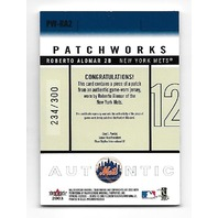 ROBERTO ALOMAR 2003 Fleer Patchworks Game-Worn patch /300 New York Mets