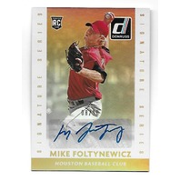 MIKE FOLTYNEWICZ 2015 Panini Donruss Gold /10 Signature Series RC Autograph auto
