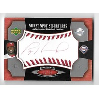 RYAN HOWARD 2005 Upper Deck Sweet Spot Signatures red auto red stitch /35
