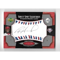 RYAN HOWARD 2005 Upper Deck Sweet Spot Signatures auto blue red stitch /30