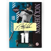 NICK JOHNSON 2003 Leaf Limited Jersey Patch Autograph /25 New York Yankees