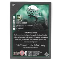 "BRYCE PETTY 2015 Upper Deck Inscriptions Red ""CBC MVP"" auto /49 Baylor Bears"