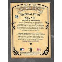 DONTRELLE WILLIS 2004 Donruss Diamond Kings auto patch bat piece /10