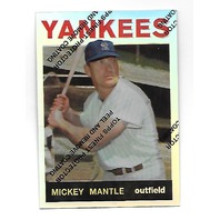 MICKEY MANTLE 1996 Topps Finest Commemorative Set 1964 Refractor #14