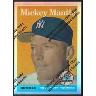 MICKEY MANTLE 1996 Topps Finest Commemorative Set 1958 Refractor #8