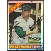 MICKEY MANTLE 1996 Topps Finest Commemorative Set 1966 Refractor #16