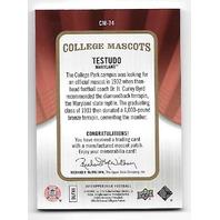 TESTUDO 2013 Upper Deck College Mascot Manufactured patch #CM-74