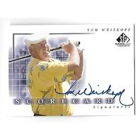 TOM WEISKOPF 2002 Upper Deck SP Scorecard Signatures Autograph #SS-WE
