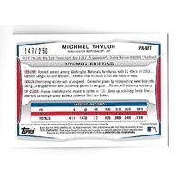 MICHAEL TAYLOR 2014 Topps Bowman Prospects Orange auto /250 Nationals