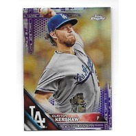 CLAYTON KERSHAW 2017 Topps Chrome Purple Refractor /275 Los Angeles Dodgers