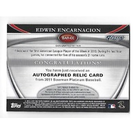 EDWIN ENCARNACION 2011 Bowman Platinum Relic auto autograph green refractor /199 Indians