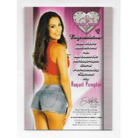 Raquel Pomplun 2013 Benchwarmer Eclectic Collection Pink Foil auto #42 Autograph