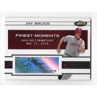JAY BRUCE 2009 Topps Finest Moments Auto Autograph #FMA-JB Cleveland Indians