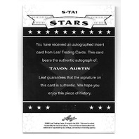 TAVON AUSTIN 2013 Leaf Valiant Draft Stars Purple Auto /15