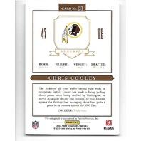 CHRIS COOLEY 2012 Panini Prime Signatures Gold auto /25 Washington Redskins