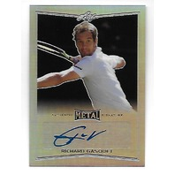 RICHARD GASQUET 2016 Leaf Metal Tennis Prismatic Refractor autograph #BARGI