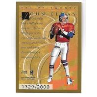 JOHN ELWAY 1996 Donruss Elite Gold /2000 Denver Broncos