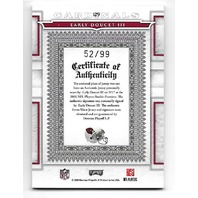 EARLY DOUCETT III 2008 Playoff National Treasures patch auto autograph /99  Cardinals